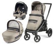 Бебешка количка 3в1 Peg Perego Team Elite Modular Cream