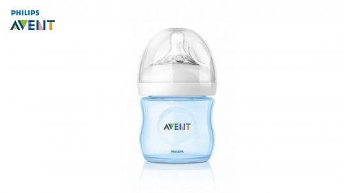 Шише за хранене Philips AVENT Natural PP-  125ml. СИНЬО