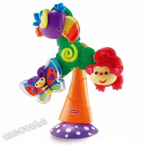 Fisher Price - Играчка въртележка за маса Rainforest