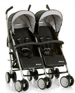 Hauck - Бебешка количка за близнаци Roadster Duo SLX Caviar/Almond