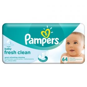 Pampers - Мокри кърпички Natural Clean 64бр.