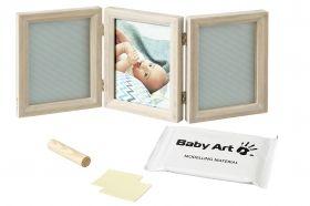 BabyART Отпечатък за ръчичка и краче Double FRAME Classic Black&White