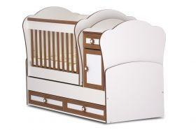 Детско трансформиращо се легло-люлка Dizain Baby *Маги* - Бяло