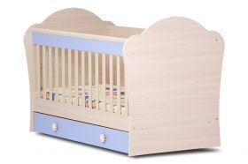 Детско легло Dizain Baby *Светла* 70/140 см - Бяло/Кафяво