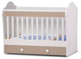 Детско легло Dizain Baby *Светла* 70/140 см - Бреза/Синьо