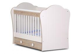 Детско легло Dizain Baby *Светла* 70/140 см - Бяло/Каучино