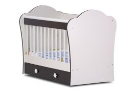 Dizain Baby Детско легло *Калина* 60/120 см - Бяло/Капучино