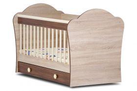 Dizain Baby Детско легло *Калина* 60/120 см - Бяло/Дъб