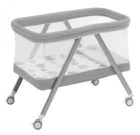Interbaby - Сгъваема бебешка кошара на колела със спален комплект
