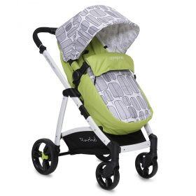 Cangaroo - Бебешка количка 2 в 1 Rachel Сини листа