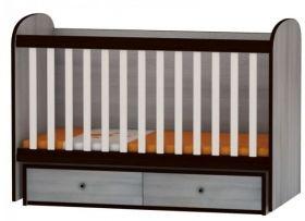 """Arbor - Детско дървено легло - люлка """"Рини"""" 60/120 Орех и Алабастър"""