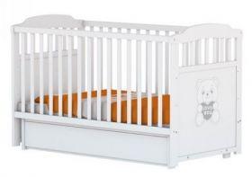Arbor - Детско дървено легло-люлка *Петит Слон и Коте* бяло/венге - 60х120