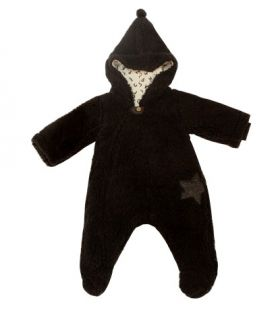 Бебешки пухкав космонавт с качулка Minene Крем