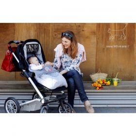 Minene - Универсално чувалче за бебешка количка Сиво сърце
