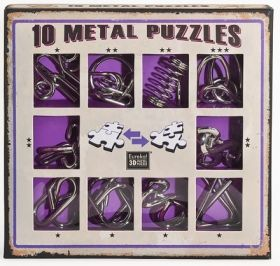Eureka Wire Puzzle Set Purple Логически 3D пъзел