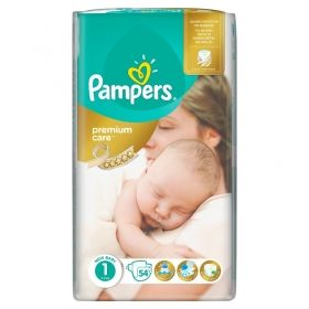 Pampers - Бебешки пелени Pampers Premium Care 1 *Newborn 2-5кг.* 54бр.