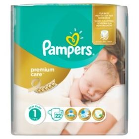 Pampers - Бебешки пелени Pampers Premium Care 1 *Newborn 2-5кг.* 22бр.