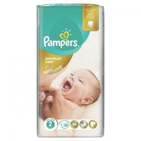 Pampers - Бебешки пелени Pampers Premium Care 2 *Mini 3-6кг.* 50бр.