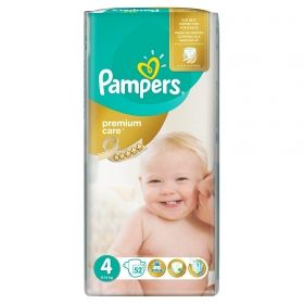 Pampers - Бебешки пелени Pampers Premium Care 4 *Maxi 8-14кг.* 52бр.