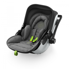 KIDDY - Столче за кола  Evoluna i-Size включително  Isofixbase  група 0+ Grey Melange Super Green
