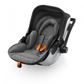 KIDDY - Столче за кола  Evoluna i-Size включително  Isofixbase  група 0+ Grey Melange Safe Orange