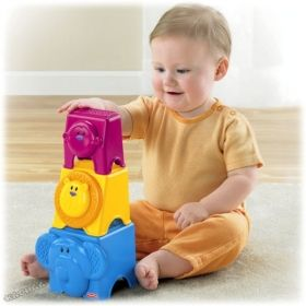 Fisher Price - Забавни кубчета Growing Baby™ Animal Stack&Nest Blocks