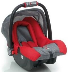 Phil & Teds Стол за кола Bebe High Side (0-13 kg) Red/Gray