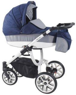 Комбинирана бебешка количка Bebetto 2в1 HOLLAND W1 - бяла рамка